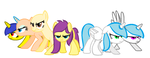 My Mane Six (half collab) by FioPonez
