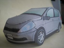Nissan Versa Papercraft Front by gpsc