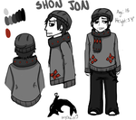 Shon Jon Character Sheet by GiantTomatoes