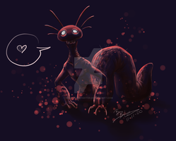 Creepy Creature Love by MadCookiefighter