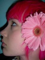 pink hair + pink flower 003 by clickypenpixieXstock