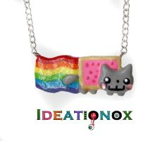 Nyan Cat Necklace by Ideationox