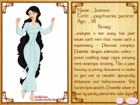 princess psychosis Jasmine by CatrionaMalfoy