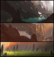 environment sketches by MrSquirtle