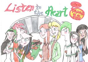 Comic 1 - listen to the heart redesigned Cover by EliHedgie95