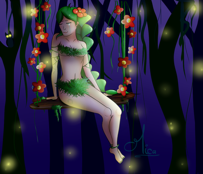 Dryad in the Night - Terraria by MicatocheLaBrioche