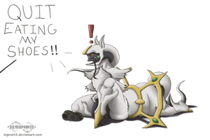 Hungry Arceus is Hungry by Legend13
