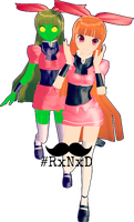 MMD RxNxD FusionFall Blossom 2.0 by RinXNeruXD