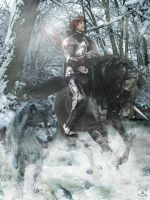 Robb Stark and Grey Wind by BlackWolf-Studio