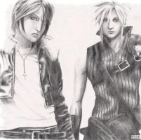 Squall and Cloud by Vykey