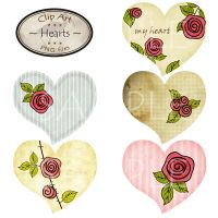 Clipart Hearts - part 1 by karavajka