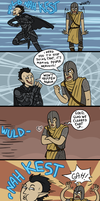 Skyrim: Fun With Guards by sparkyHERO