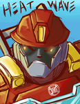 Rescue Bots: Heatwave coloured by Fulcrumisthebomb