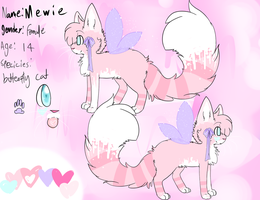 Mewie Ref by puppylovekitty