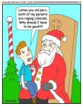 Liberals' Kid at Christmas cartoon by Conservatoons