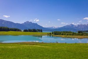 Lake Illasberg with Lake Forggen in the background by bibamus-pd