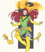 Jean Grey Print by Num1XMN