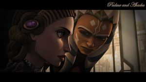 Padme and Ahsoka by YOYOCW