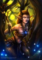 Faun girl by DragonsTrace
