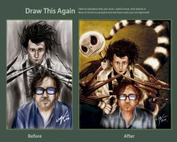 Draw this Again - Tim Burton by lmv01