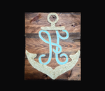 Monogrammed Rustic Anchor by Coastaholic