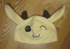 Happy goat hat by The-Cute-Storm