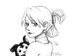 Riza Hawkeye and B. Hayate - Portrait by Sen-Elric
