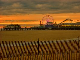 Santa Monica Pier Sunset by zootnik
