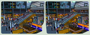 Berlin Hauptbahnhof II ::: HDR Cross-View 3D by zour