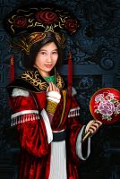 Oriental Woman by whiteguardian
