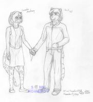 Cassie and David Holding Hands by SonicHomeboy