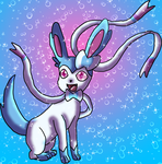 Shiny Sylveon-Fairy Wind by DragonessBlue