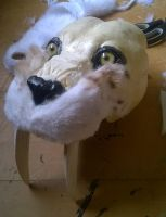 WIP Lifesized Smilodon 2 - fur on the head by Kreativjunkie