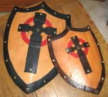 Leather Shields by Peaceofshine