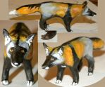 Cross Fox Clay Figure by silvercrossfox