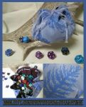 Blue Kiwi Feather Pouch for Dice, Runes, Coins... by ImogenSmid