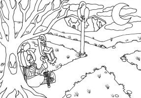 Cucurbita colouring page for peach-of-crazyness by Ewy-chan