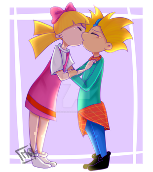 Hey Arnold -Helga and Arnold- by Megu0w0