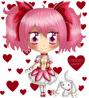 .: Chibi Madoka and Kyubey :. by izka197