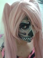 Skull Half Face two by Leuxdeluxe