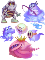 Super Mario World Ghouls by AlgorPhoenix