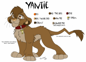 Yantie ref sheet 2008 by KaiserTiger