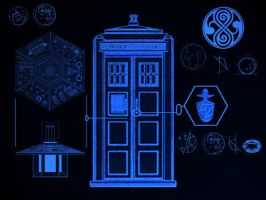 TARDIS  'Tech' wallpaper 2 by Carthoris