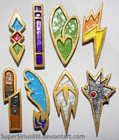 Unova League badges by SuperSiriusXIII