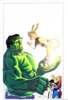 Hulk and PowerPack  issue two by BroHawk