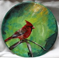 Male Cardinal Bird by ThisArtToBeYours