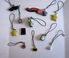 Polymer Clay Phone Charms by MadameMika