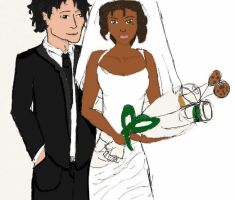 Claudia and Jamison's wedding by icantreallydraw901