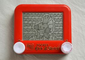 Mudkip etch a sketch by pikajane