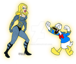 Black Canary VS Donald Duck by TULIO19mx
